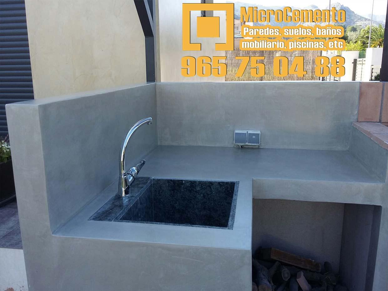 Precio microcemento para ba os suelos paredes en denia - Encimeras de microcemento ...