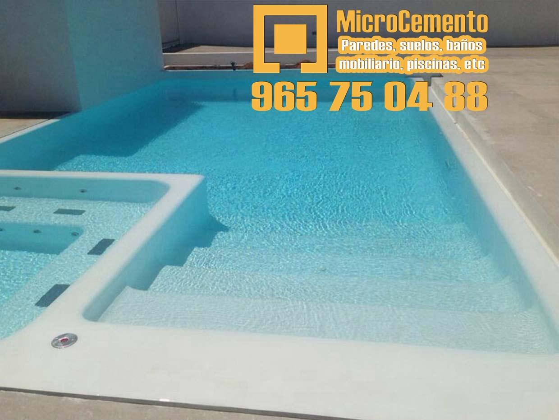 Precio microcemento para ba os suelos paredes en denia for Mobiliario piscina