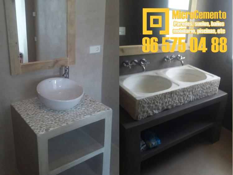 Muebles de baño en microcemento